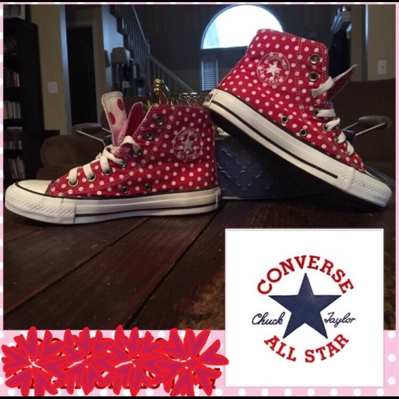 225e600ce695a5 Converse Shoes - Double Tongue Polka Dot Converse All Stars Hi Tops